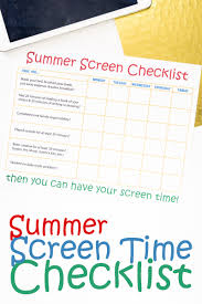 summer writing paper template online labels blog free diy label templates printables designs summer screen time checklist