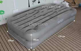 twin size air camping bed intex 2 in 1 inflatable mattress intex