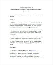 sample front end developer resume freelance developer resume
