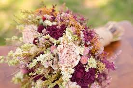 fall flowers for wedding rustic romance bridal bouquet burgundy pink bridal bouquet