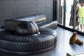 leather sectional sofa by roche bobois at 1stdibs