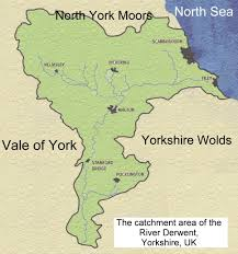 Yorkshire Map River Map Yorkshire