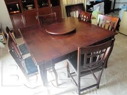 table rotating center designs excellent 6 seater dinning table with revolving centerpurchased in