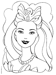 barbie cartoon coloring pages printable barbie princess coloring