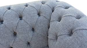 Grey Fabric Chesterfield Sofa by Chesterfield 3 Seater Sofa Settee Harley Slate Grey Fabric Offer 2