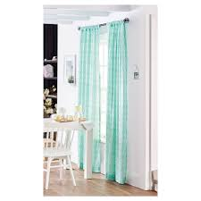 Threshold Blackout Curtains by Target Threshold Curtain One Sheer Window Panel Teal Geometric