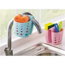Draining Sponge Caddy Scratcher Holde End   PM - Kitchen sink sponge holder