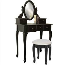Jewelry Armoire Vanity Best Choice Products Black Vanity Table Set Jewelry Armoire Makeup D