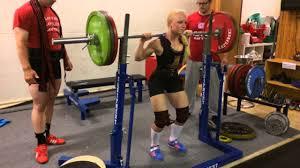 karen hesthammer 145 kg squat equipped youtube
