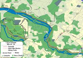 Great Loop Map The C U0026o Canal Bicycling Guide Mile 10 Thru 25