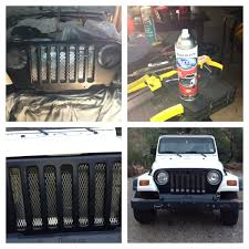 jeep front grill guard diy jeep front grill to prep i washed the area well sanded with