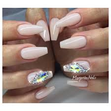 coffin nails fall fashion swarovski bling nail design