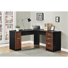 Black Corner Desk With Drawers Desks Elegant Office Furniture Design With Cozy Ameriwood L