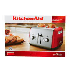 Hamilton Beach Smarttoast 4 Slice Toaster Kitchenaid Kmt4115er Empire Red Four Slice Toaster With Manual Lift