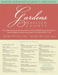 schedule of events madison ridgeland academy