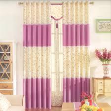cotton country curtains valances pink purple color