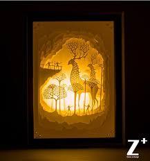 light box light bulbs hand made paper wood art night lights children l 3d papercut gift