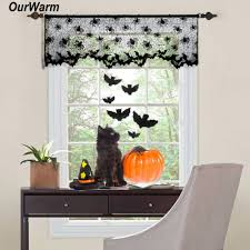 Halloween Decoration Party by Online Get Cheap Halloween Window Curtains Aliexpress Com