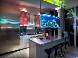 indoor unique kitchen saltwater aquarium design ideas picture