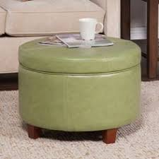 Kinfine Storage Ottoman Kinfine Large Leatherette Round Storage Ottoman With Removeable