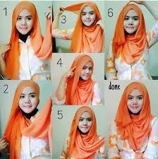 tutorial hijab pashmina kaos yang simple tutorial hijab pashmina wajah bulat yang simple dan mudah