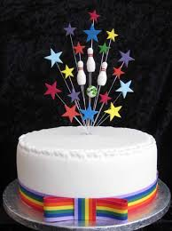 bowling cake toppers ten pin bowling birthday cake topper suitable for a 20cm cake