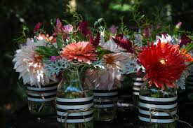 jar flower centerpieces deborah jean s dandelion house and garden jar wedding