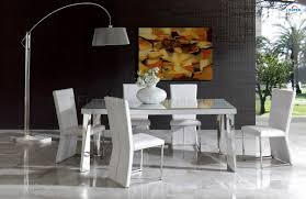 coco white 7 piece set dining table with 6 chairs