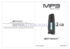 emerson mp3 player emp385 2 user u0027s manual download free