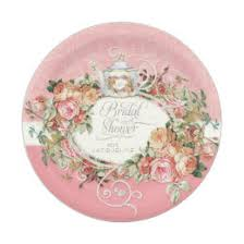 bridal shower plate bridal shower plates zazzle