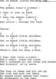 christian childrens song get on board children lyrics and