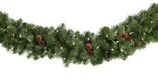 christmas garland with lights lighted christmas garland winchester fir prelit led christmas