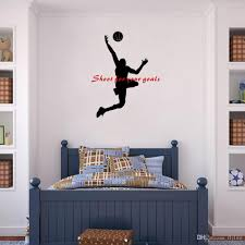 shoot for your goals basketball quote wall stickers sport vinyl shoot for your goals basketball quote wall stickers sport vinyl mural decals for boys room or office decoration wall stickers for bedroom wall stickers for