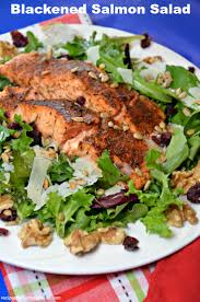 will love this flavorful blackened salmon salad