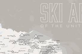 Wisconsin Usa Map Us Ski Resorts Map 24x36 Poster Best Maps Ever
