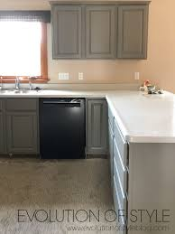 grey painted kitchen cabinets painted kitchen cabinets in sherwin williams dorian gray