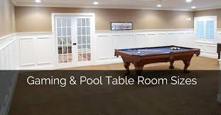how much space is needed for a pool table pool table room size gaming and pool table room sizes home