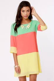 cute color block dress shift dress 40 00