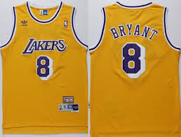 cheap stitched mens 8 kobe bryant lakers jersey nba gold