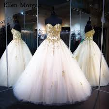 gold quince dresses ivory with gold lace quinceanera dresses 2018 real