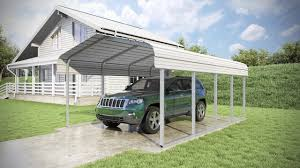 Car Port Roof 12 X 20 X 7 Classic Carport Roof Only Youtube