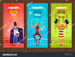 today show set travelling circus one day show flat stock vector 350574716