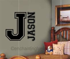 wall decals stickers home decor home furniture diy custom name personalized sport monogram varsity letter vinyl decal wall sticker