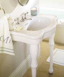 kingston brass console sink pottery barn parisian pedestal single sink console look 4 less