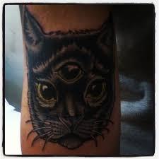 neotraditional cat tattoo com