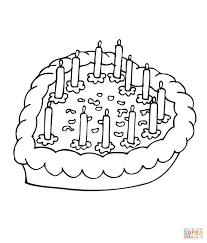 valentine day cake coloring page free printable coloring pages