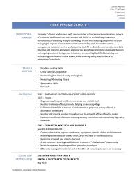 chef resume examples templates resume sample for call center job