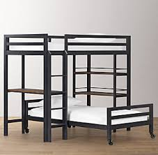industrial loft study bunk bed collection rh baby u0026 child