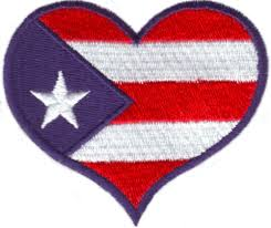 Puertorican Flag Puerto Rico Flag Heart Custom Embroidery Designs By Stitchitize