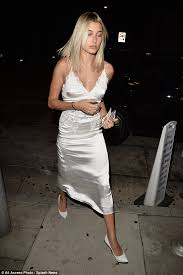 hailey baldwin puts on leggy display on night out in la daily